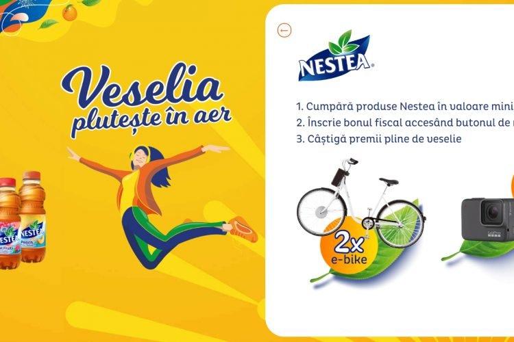 Mega Image - Nestea - Veselia pluteste in aer - Castiga e-bike sau o camera video GoPro!