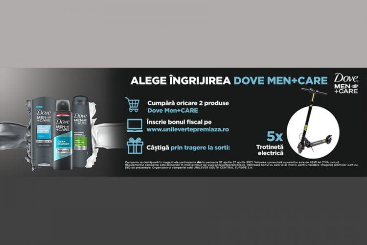 dm drogerie markt - Alege ingrijirea Dove Men+Care - Castiga o trotineta electrica!