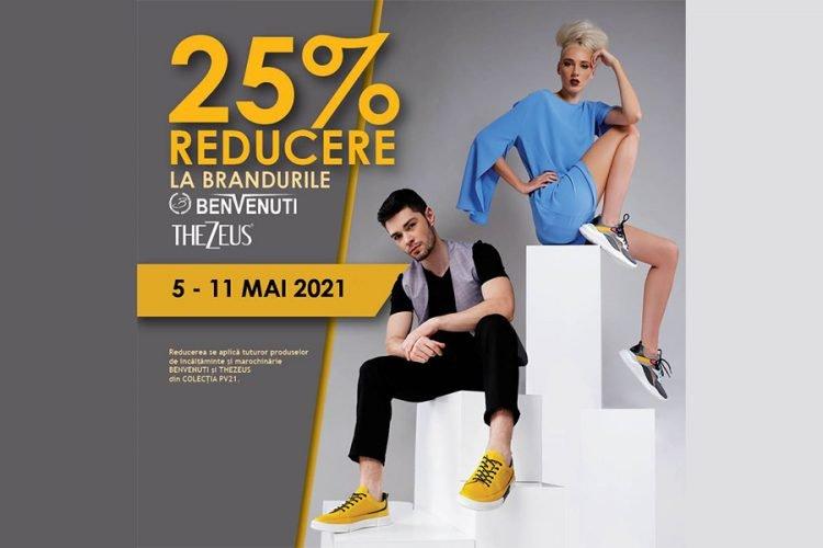 Oferta Benvenuti - 25% reducere la brandurile Benvenuti si Thezeus