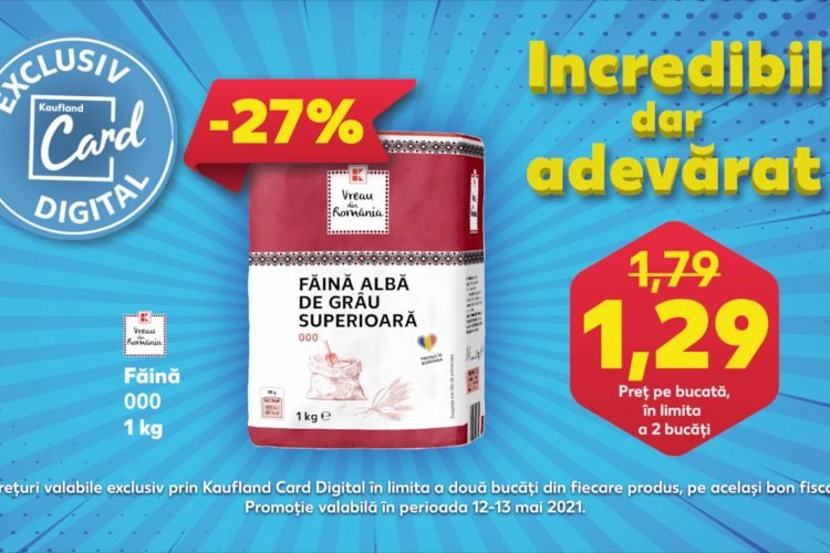 Oferta Kaufland Card Digital din 12 - 13 mai 2021: faina, carne tocata si cafea