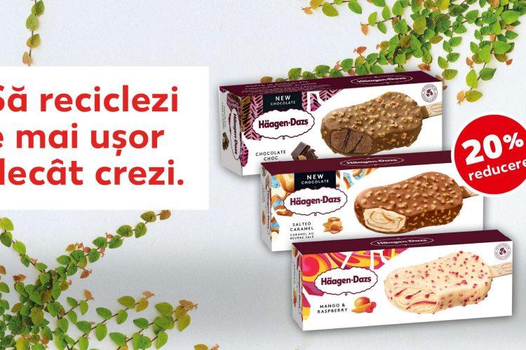 Voucher Kaufland - 20% reducere pentru toata categoria de inghetata Häagen Dazs 80 ml