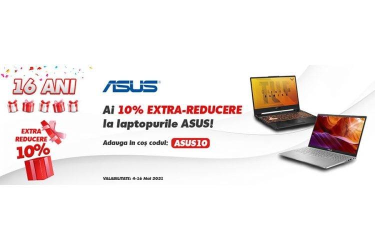 Voucher evoMAG - 10% extra-reducere la laptop-urile Asus