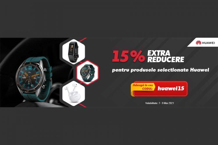 Voucher evoMAG - 15% extra-reducere la selectia de produse Huawei