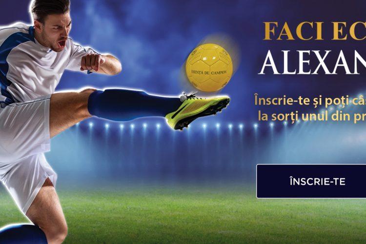Alexandrion - Faci echipa cu Alexandrion - Castiga o minge, un kit profesionist fotbal sau bilete la un meci de fotbal!