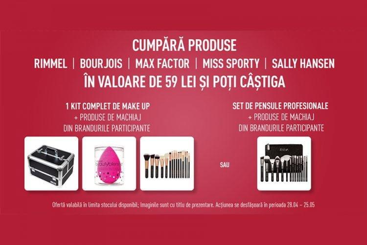 Cora - Beauty Festival Cora! Castiga un kit complet de make-up sau un set de pensule profesionale si set produse de machiaj!