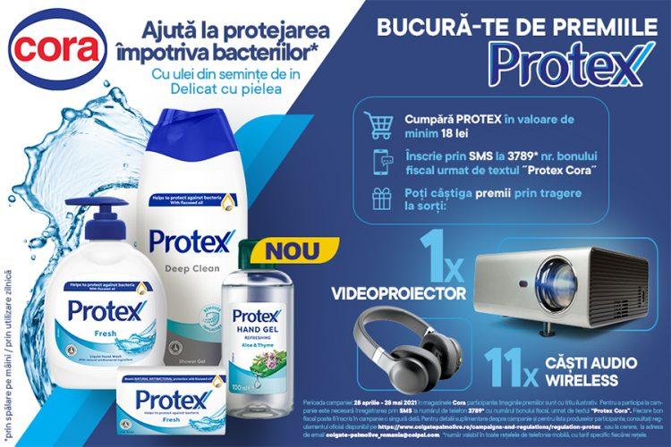 Cora - Bucura-te de premiile Protex! - Castiga un videoproiector sau casti audio wireless!