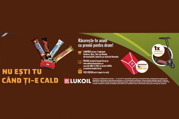 LUKOIL - Racoreste-te acum cu premii pentru drum! Castiga o trotineta electrica sau un card de loialitate Club LUKOIL!