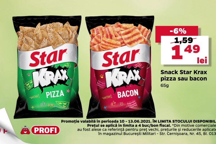 Oferta Profi 10 iunie - 13 iunie 2021 - Snack Star Krax