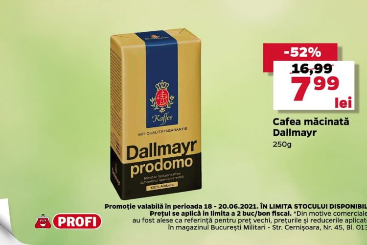 Oferta Profi 18 iunie - 20 iunie 2021 - Cafea macinata Dallmayr