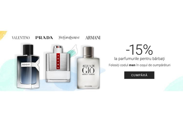Voucher Notino - 15% reducere la parfumurile pentru barbati