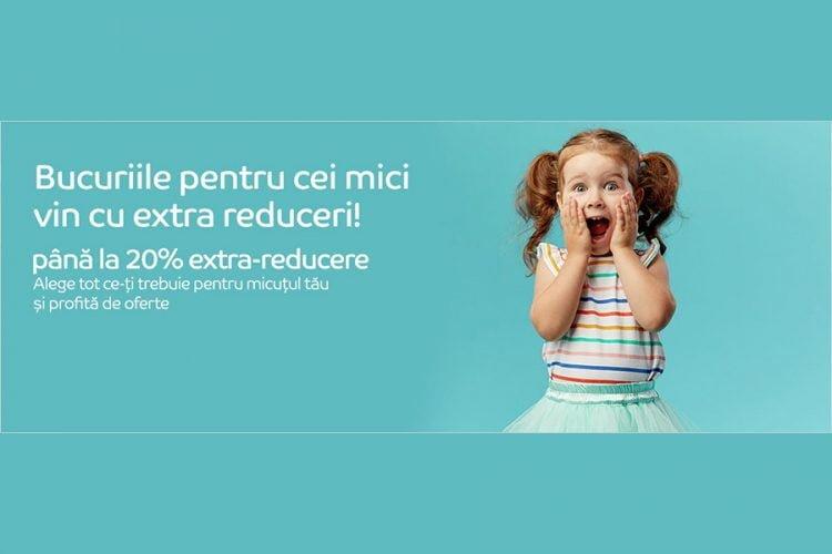 Voucher eMAG - pana la 20% extra-reducere la selectia de articole pentru copii