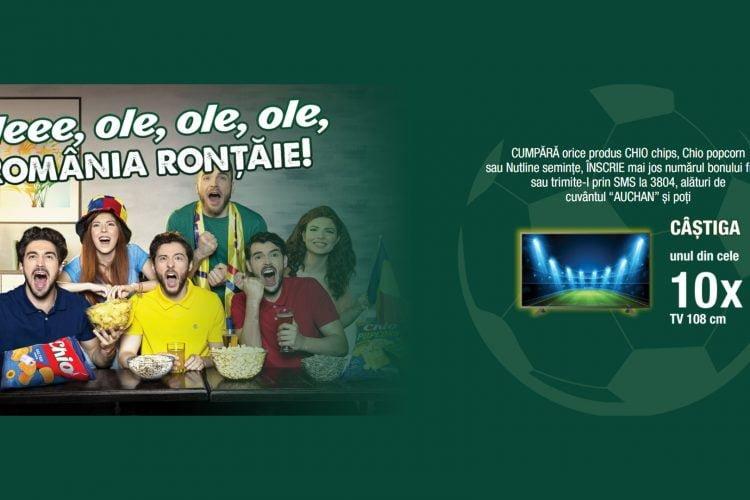 Auchan - Chio - Oleee, ole, ole, ole, Romania rontaie! Castiga un TV!