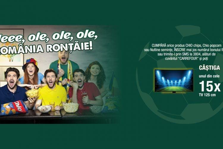 Carrefour - Chio - Oleee, ole, ole, ole, Romania rontaie! Castiga un TV!