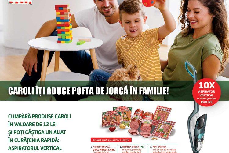 Cora - Caroli iti aduce pofta de joaca in familie - Castiga un aspirator vertical Philips!