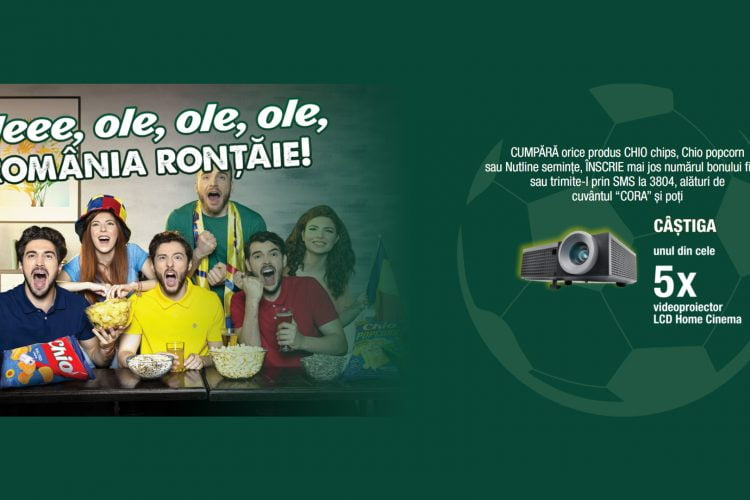Cora - Chio - Oleee, ole, ole, ole, Romania rontaie! Castiga un videoproiector LCD Home Cinema!