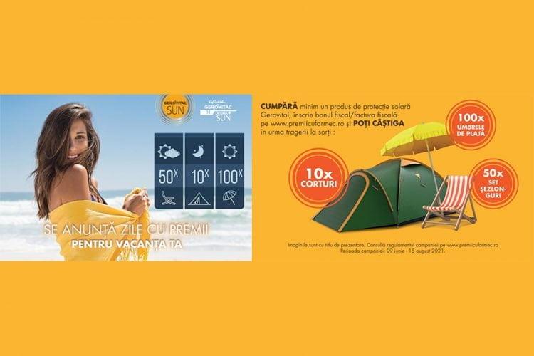 Farmec - Gerovital Sun - Castiga un cort, un set sezlonguri sau umbrela de plaja!