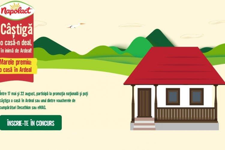 Napolact - Castiga o casa in Ardeal sau vouchere de cumparaturi Decathlon sau eMAG!