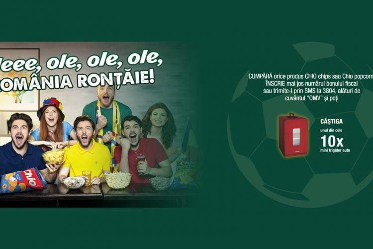 OMV - Chio - Oleee, ole, ole, ole, Romania rontaie! Castiga un mini frigider auto!