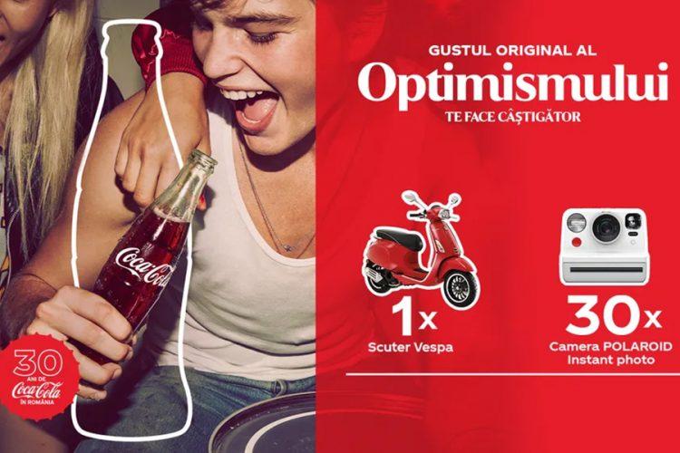 Penny - Coca-Cola aniversar 30 de ani - Castiga un scuter Vespa sau o camera Polaroid Instant Photo!