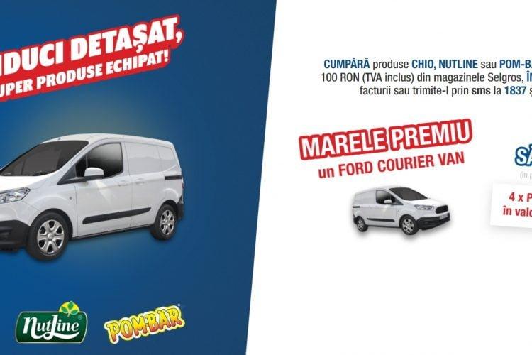 Selgros - Conduci detasat cu super produse echipat! Castiga 500 lei sau un Ford Courier Van!