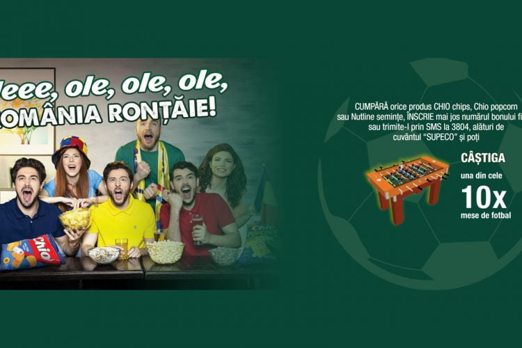 Supeco - Chio - Oleee, ole, ole, ole, Romania rontaie! Castiga o masa de fotbal!