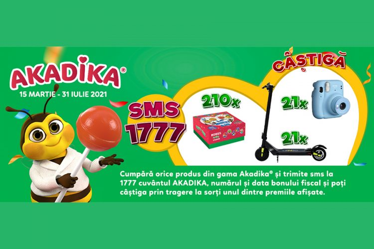 Akadika - Gustul bun al distractiei - Castiga o trotineta electrica, o camera foto instant sau o cutie aniversara Akadika!