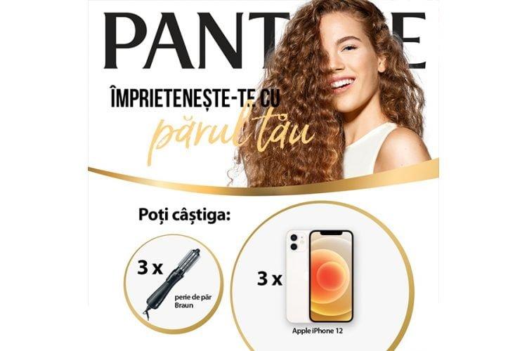 Auchan - PANTENE - Imprieteneste-te cu parul tau! Castiga un iPhone 12 sau o perie de par Braun!