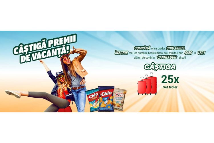 Carrefour - Chio Chips - Castiga premii de vacanta! Castiga un set troler!