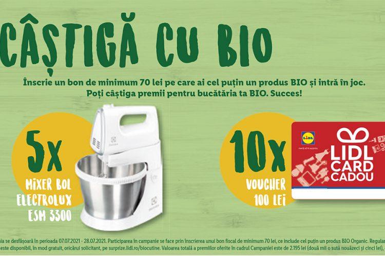 Lidl - Bio cu tine - Castiga un mixer cu bol Electrolux sau un voucher de cumparaturi Lidl!