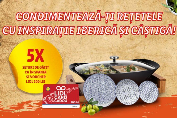 Lidl - Gateste in stil spaniol si castiga premii: un set pentru gatit si servit si un voucher Lidl!