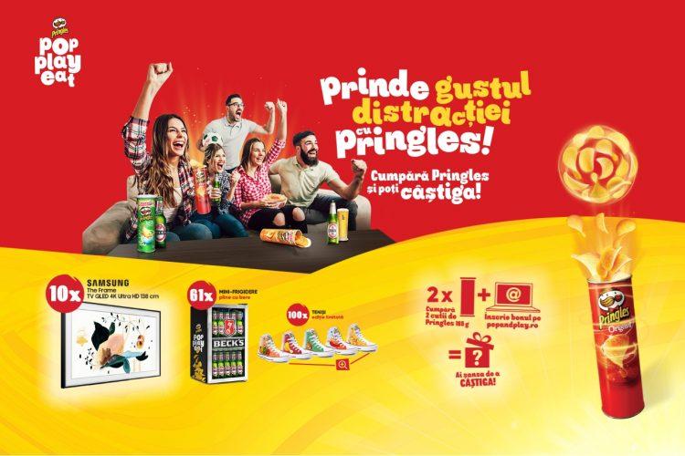 Prinde gustul distractiei cu Pringles! Castiga un TV Samsung The Frame, un mini frigider sau tenisi!