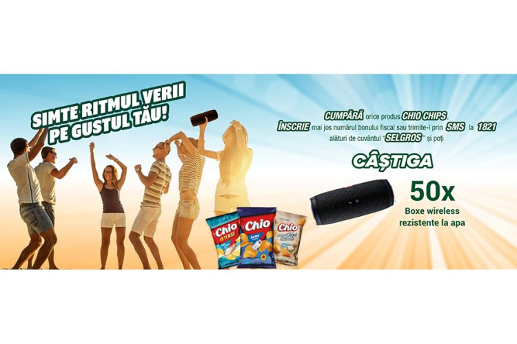 Selgros - Chio Chips - Simte ritmul verii pe gustul tau! Castiga o boxa wireless!
