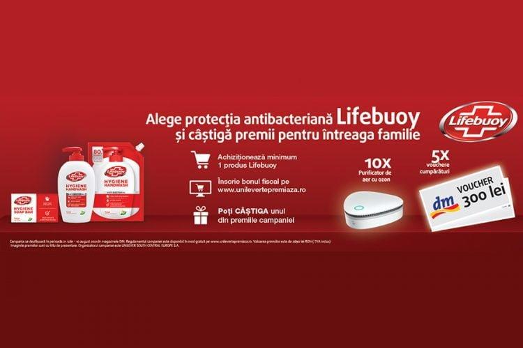 dm drogerie markt - Alege protectia antibacteriana Lifebuoy si castiga premii pentru intreaga familie