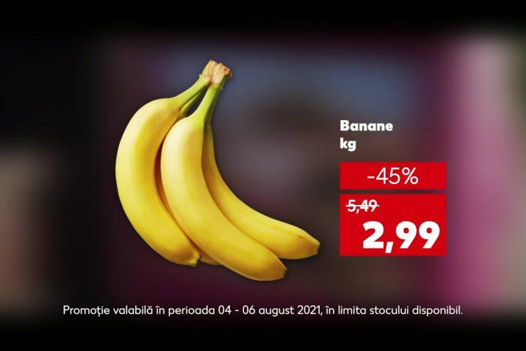 Oferta Kaufland din 4 - 6 august 2021: banane, masline si nisip pentru pisici