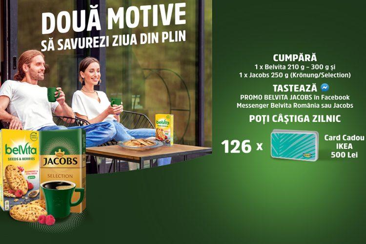 belVita & Jacobs - Doua motive sa savurezi ziua din plin - Castiga un card cadou IKEA!