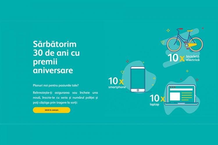 Asirom - Sarbatorim 30 de ani cu premii aniversare - Castiga un smartphone, un laptop sau o bicicleta electrica!
