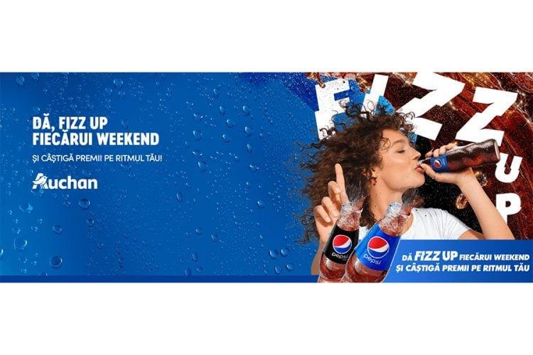 Auchan - Da FIZZ UP fiecarui weekend si castiga premii pe ritmul tau! Castiga o trotineta si casca, un rucsac smart sau casti wireless earbuds!