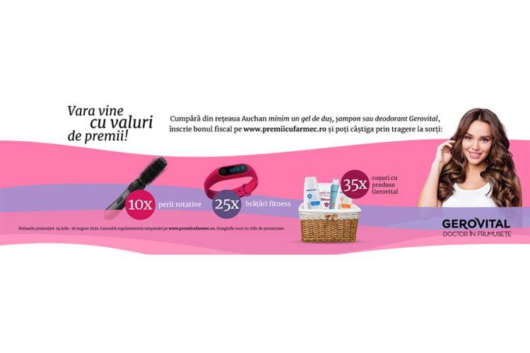 Auchan - Gerovital - Castiga o perie rotativa, o bratara fitness sau cosuri cu produse Gerovital!
