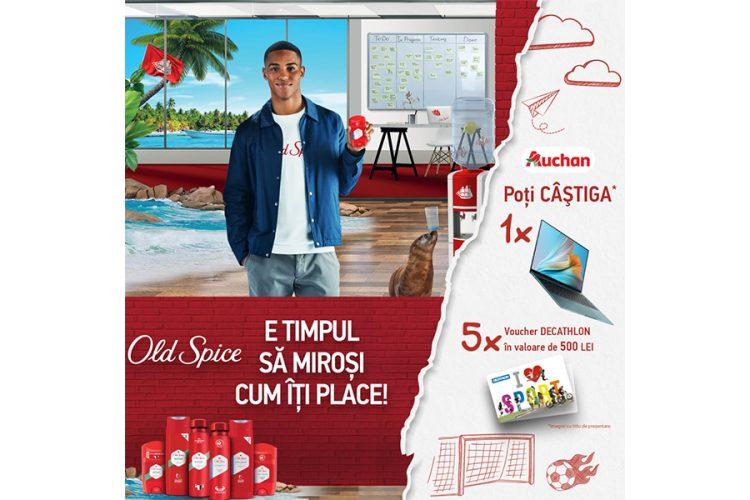 Auchan - Old Spice - Castiga un laptop HP sau un voucher Decathlon!