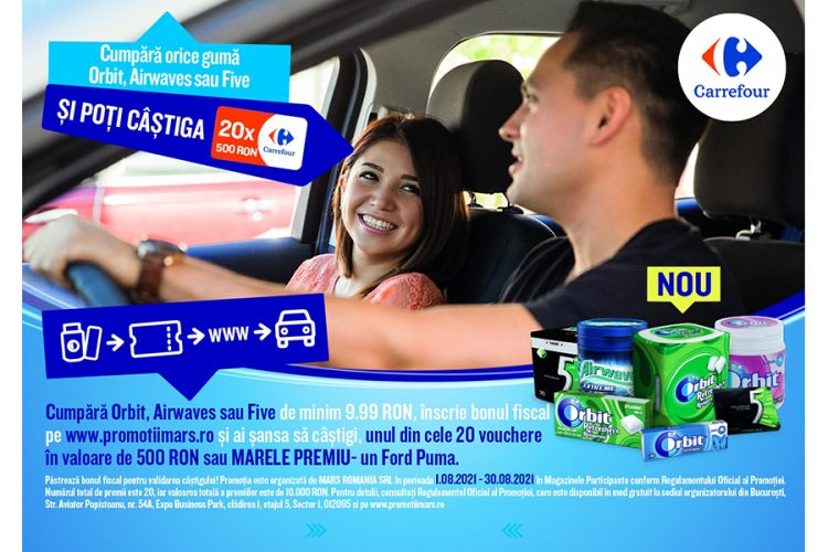 Carrefour - Orbit Car Occasion! Castiga un voucher Carrefour sau un Ford Puma!