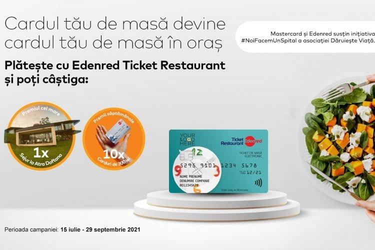 Edenred - Cardul Edenred Ticket Restaurant te scoate la masa - Castiga un sejur la Atra Doftana sau un card Edenred Cadou!