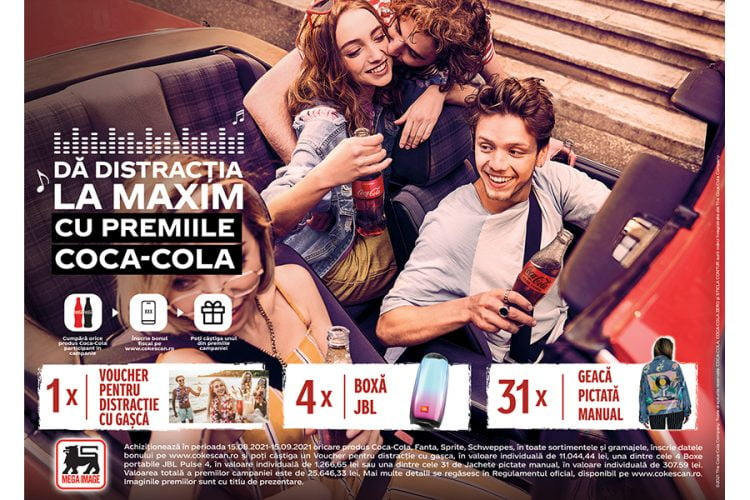Mega Image - CokeScan - Da disctractia la maxim cu premiile Coca-Cola