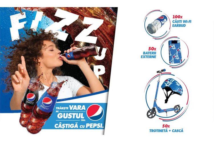 Penny - Traieste vara pe gustul tau. Castiga cu Pepsi: o trotineta si casca, o baterie externa sau casti Wi-fi earbud!