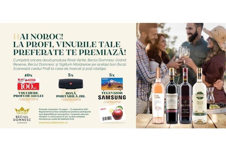 Profi - Hai noroc! La Profi, vinurile tale preferate te premiaza! Castiga un voucher Profi, o boxa portabila JBL sau un televizor Samsung!