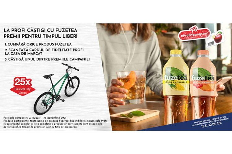 Profi - La Profi castigi cu Fuzetea premii pentru timpul liber! Castiga o bicicleta City Velors!