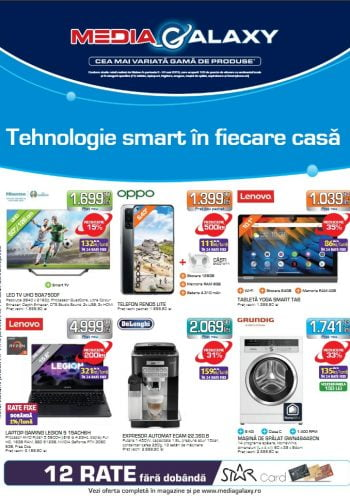 Catalog Media Galaxy 23 septembrie - 29 septembrie 2021 - Tehnologie smart in fiecare casa