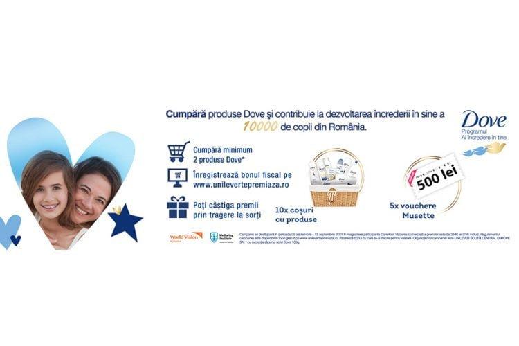 Carrefour - Ofera-le incredere in frumusetea lor si castiga un voucher Musette sau cosuri cu produse Dove!