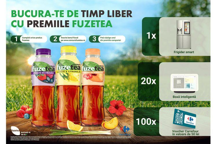 Carrefour -  Relaxeaza-te cu premiile Fuzetea - Castiga un frigider smart, o boxa inteligenta sau un voucher Carrefour!