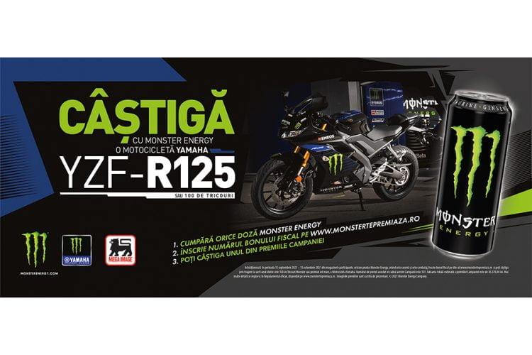 Mega Image -  Monster Yamaha - Castiga un tricou sau o motocicleta Yamaha YZF-R125!