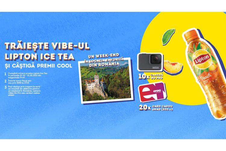 Profi - Traieste vibe-ul Lipton Ice Tea - Castiga un voucher de calatorie, camera video Go Pro sau card cadou eMAG!
